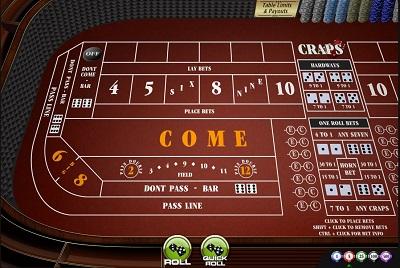 craps spelen bij NetBet casino