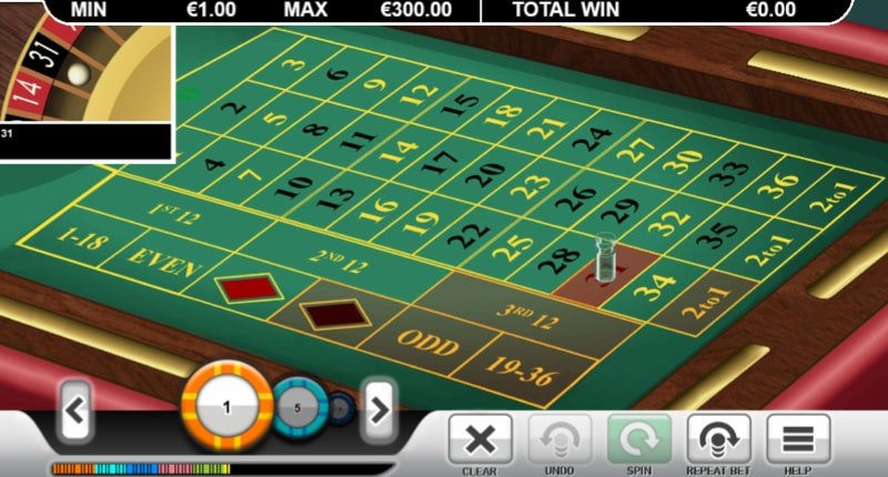 screenshot-roulette ter illustratie martingale systeem