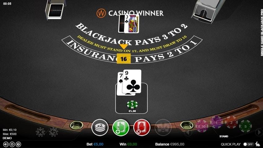 single deck blackjack screenshot2