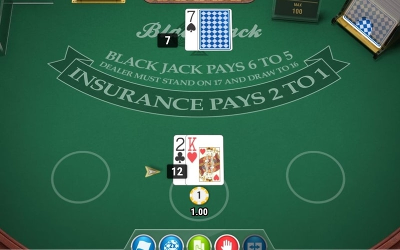 even money blackjack of insurance screenshot
