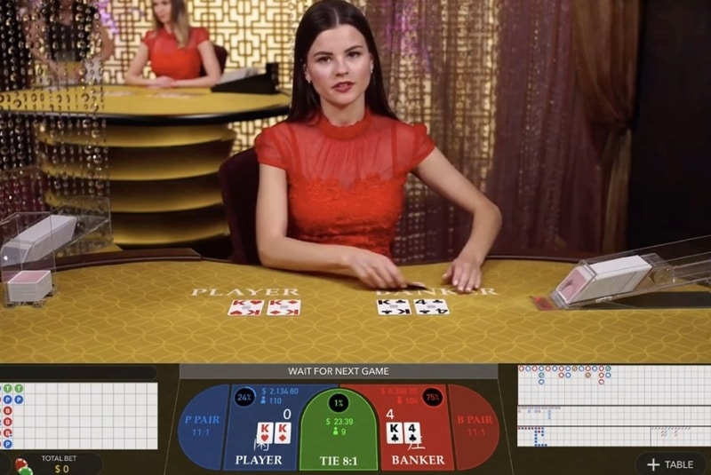 no commission baccarat evolution gaming screenshot