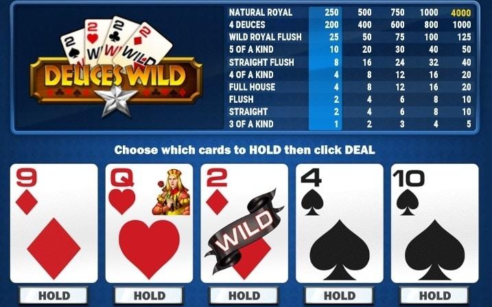 deuces wild een van de meest winstgevende videopoker varianten