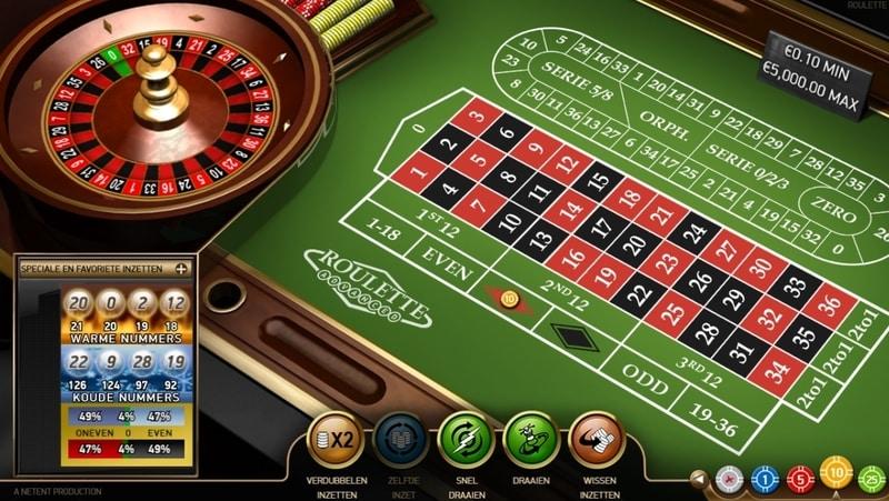 screenshot netent roulette illustratie bij winnende roulette systemen