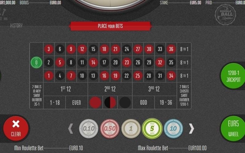 Online Double Ball roulette regels