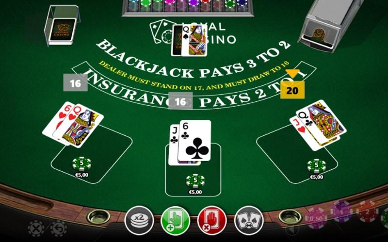 Blackjack passen met 16 punten?